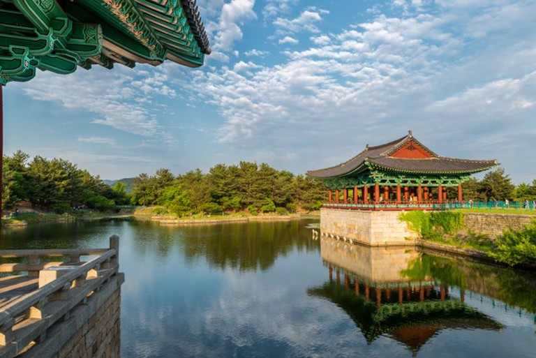 The Pavilions of Anapji Pond reflected in the Water/©Shutterstock