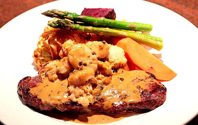 Seafood steak