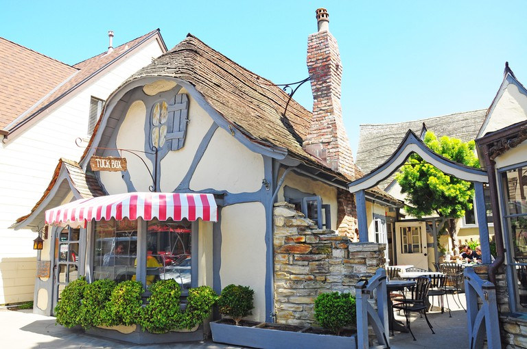 Tuck Box is a lovely restaurant in Carmel., Monterey County, California, Carmel is known for being dog-friendly, with numerous hotels, restaurants © OLOS / Shutterstock