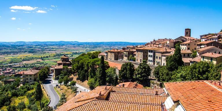 Cortona, medieval town in Tuscany, Italy