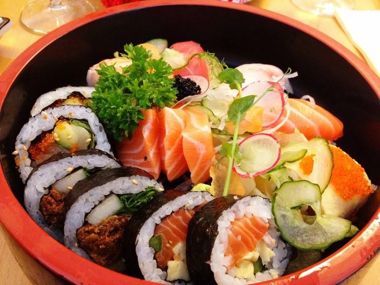 Eat sushi galore at Isao