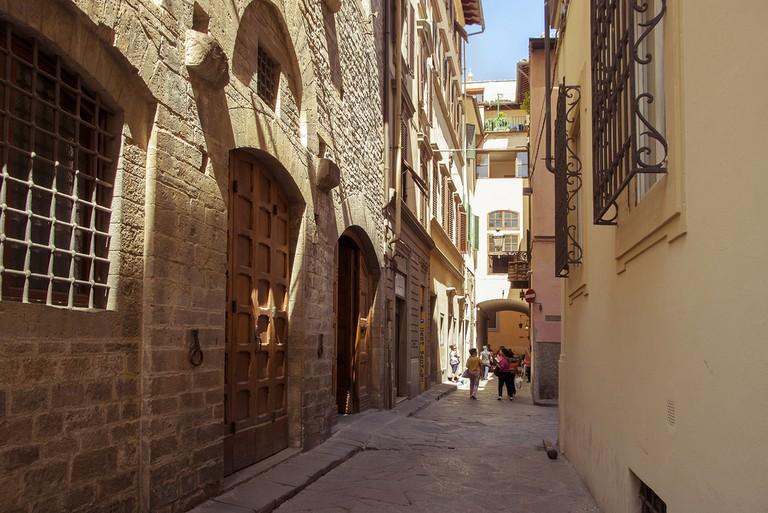 Ancient Via Santa Margherita on which the Chiesa di Santa Margherita dei Cerchi