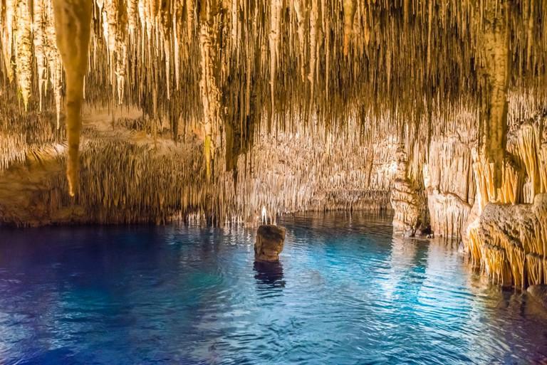 Caves of Drach on Majorca Island, Spain