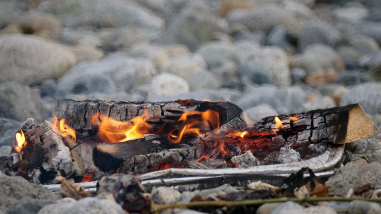 Barbecue Pit on Beach  ©Rudy Eng/Flickr