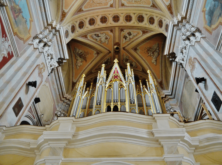 Interior of the Cathedral of St. Peter and Paul