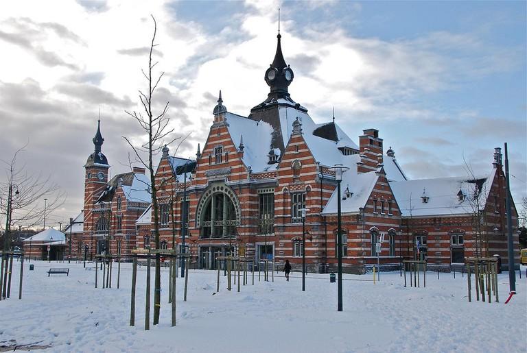 Schaerbeek train station under snow   © Stephane Mignon/Flickr