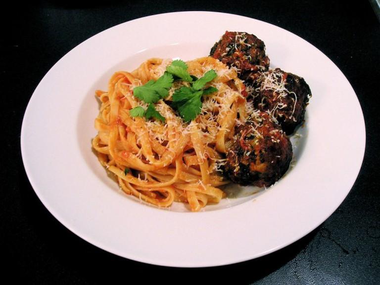 Spaghetti With Three Meatballs | © John Herschell / Flickr