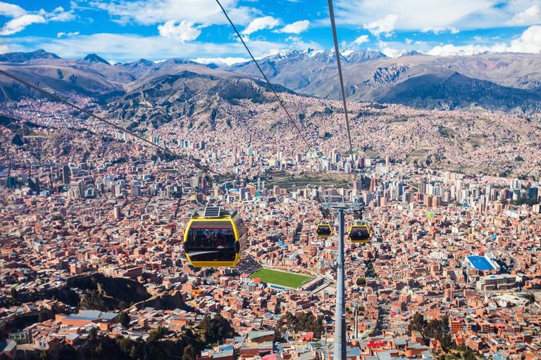 Cable car in La Paz city, Bolivia © saiko3p / Shutterstock