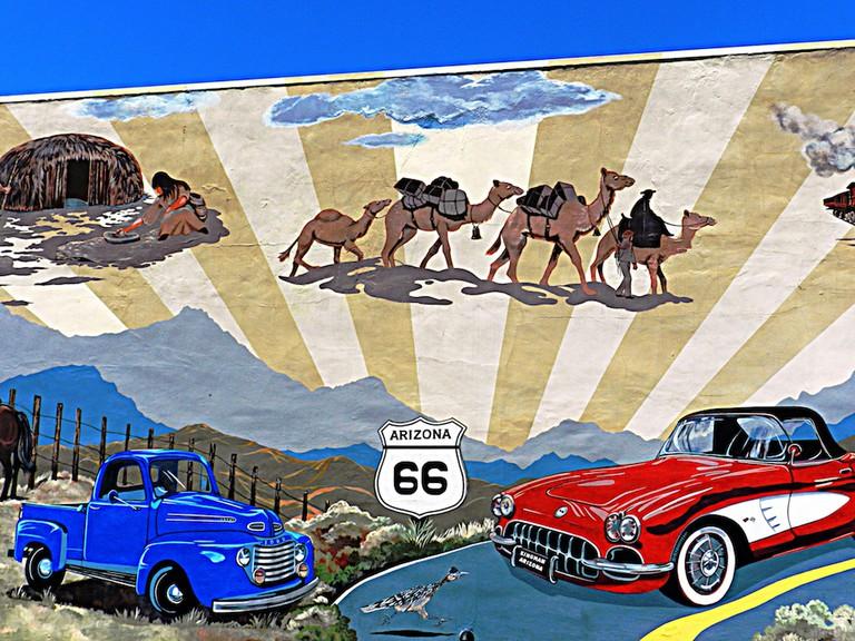 Mural on Mojave Museum, Kingman, AZ