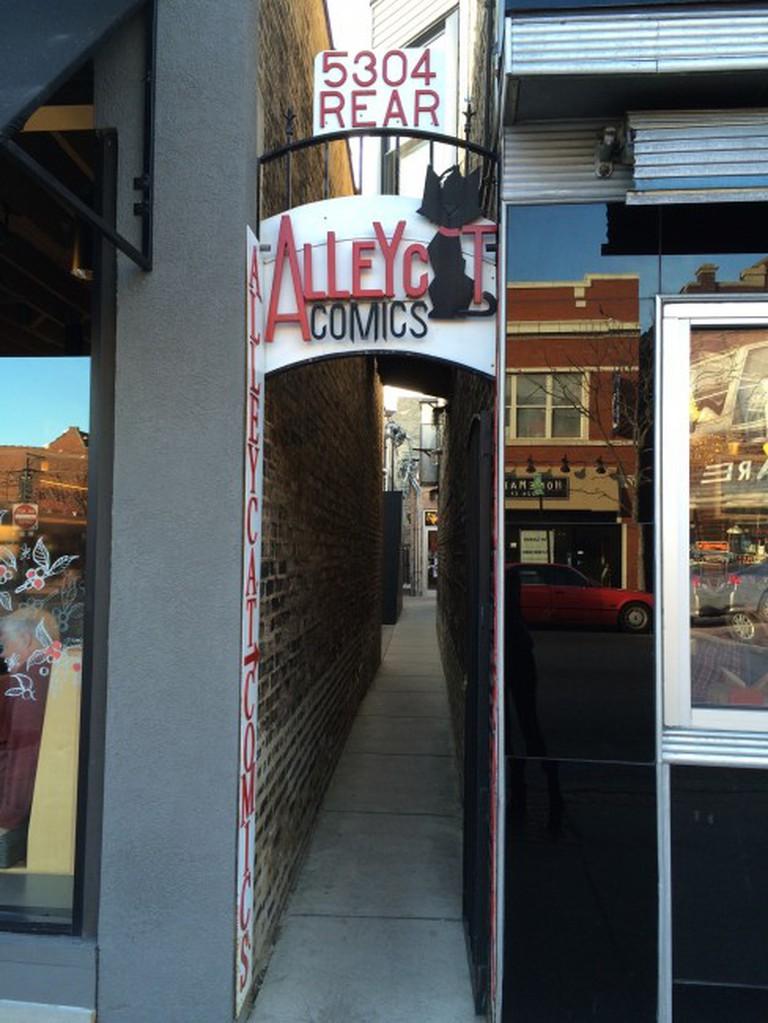 Alleyway to AlleyCat Comics | © Benita Gingerella