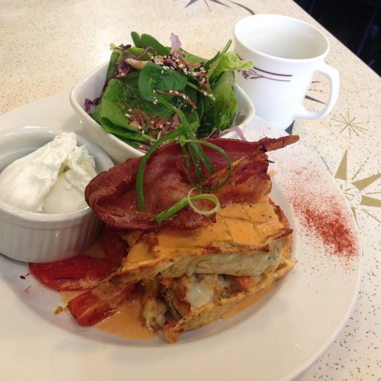 Cheddar & Spinach Waffles | Nicole Egan