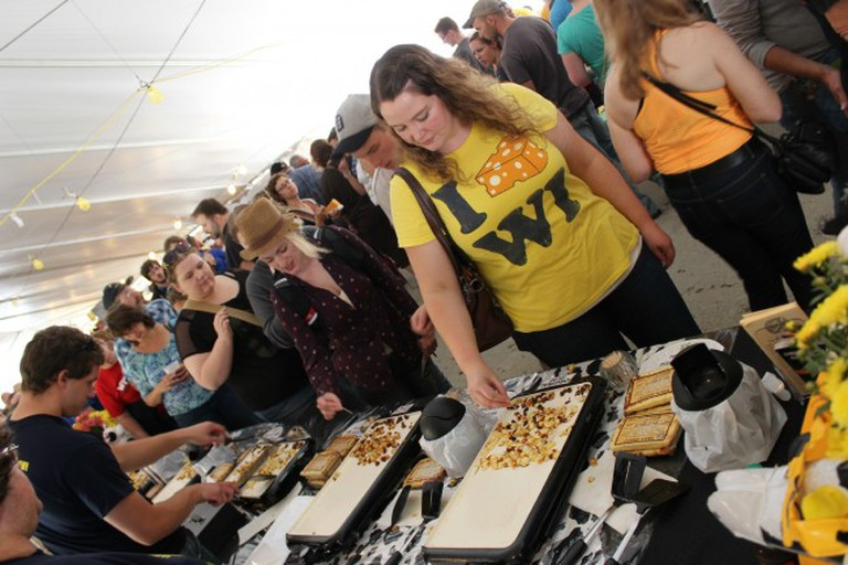 Green County Cheese Days cheese tasting tent | Courtesy Green County Cheese Days
