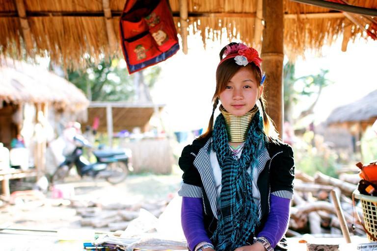 Long Neck Karen tribal girl ©anson chu/Flickr