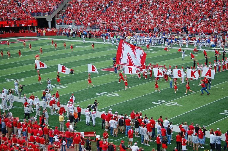 Memorial Stadium during a University of Nebraska game | ©Kiley/Flickr