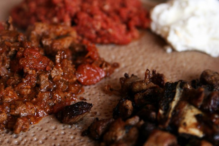 Typical Ethiopian Meal | ©Quinn Dombrowski/Flickr