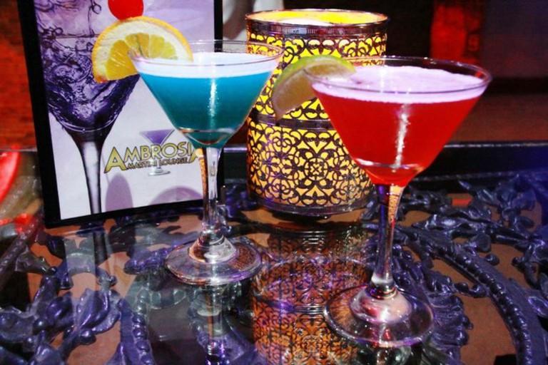 Martinis   Courtesy of Ambrosia Martini Lounge