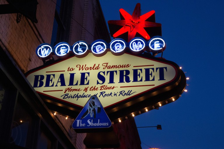 One of the most famous streets in downtown Memphis is Beale Street © Josh Grenier / Flickr