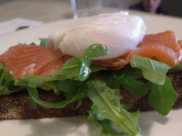 Eggs and Salmon on Rye   © Alpha/Flickr