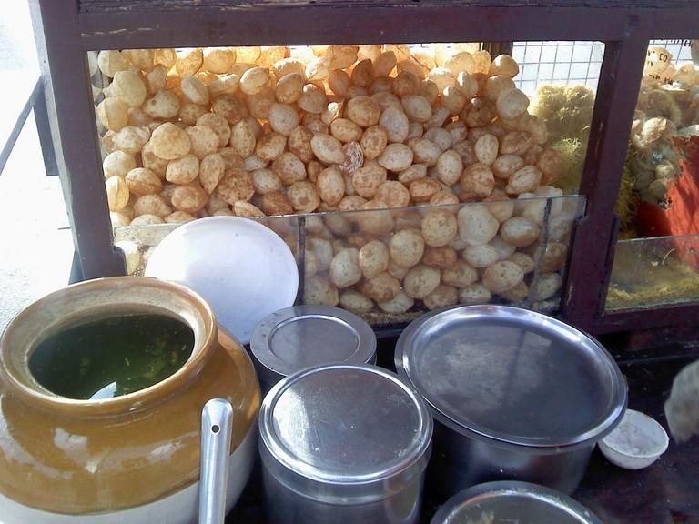 Paani-puri stall ©Ganesh Dhamodkar