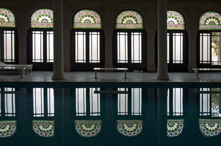 """""""Indoor Pool at the Lalgarh Palace, Bikaner"""" © Sandra Cohen-Rose and Colin Rose/Wikicommons"""