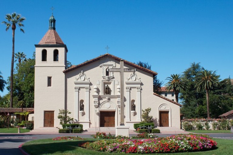 The Mission Santa Clara de Asis is on the campus of Santa Clara University. It is a very well maintained mission.