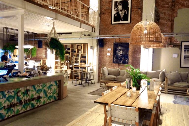 Interior of Coffee & Coconuts | Courtesy of Coffee & Coconuts