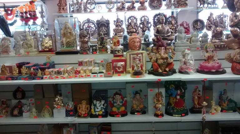 Statues on display at Maharani Emporium| © Reena Lalla
