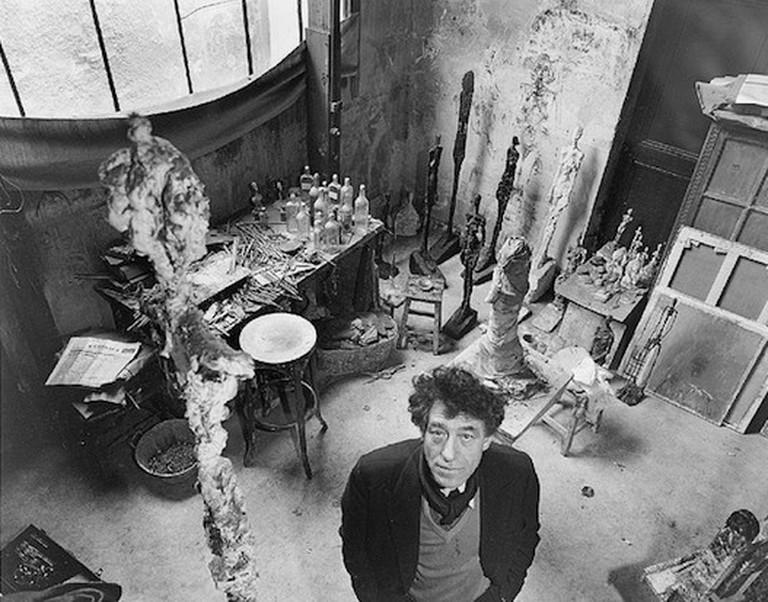 Giacometti In His Studio © Cea +   Flickr