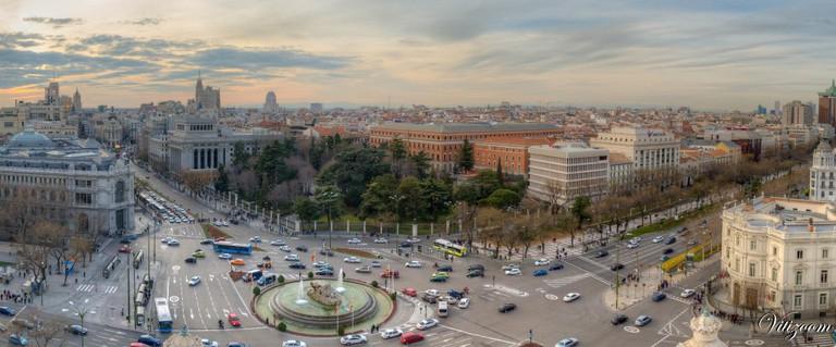 View from Palacio de Cibeles towards Gran Vía | © Victor Rivera / Flickr
