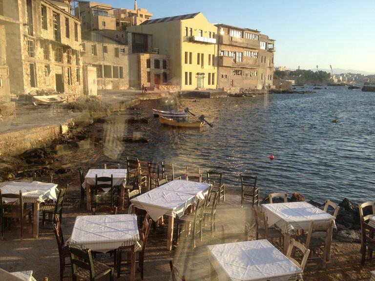 View from Sea Breeze restaurant Thalassino Ageri