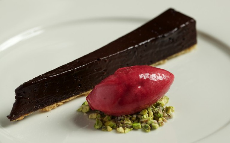 Acorn Vegetarian Kitchen is a must-visit, the chocolate tart a must-try nded | Courtesy of Acorn Vegetarian Kitchen