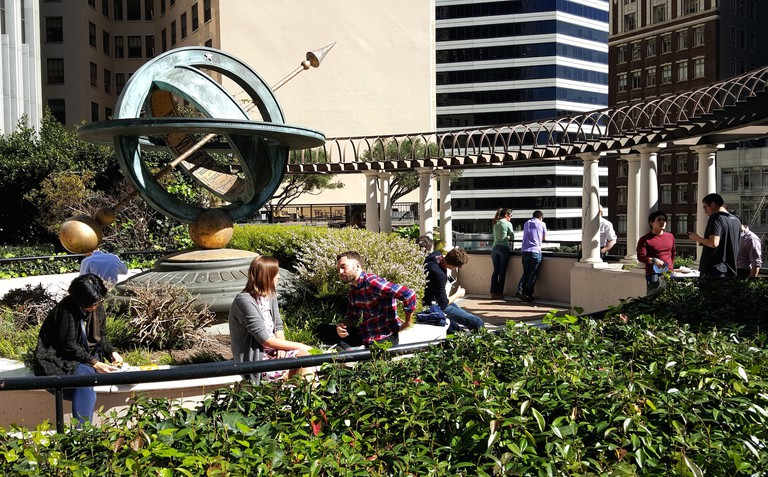 Lunchtime at the Crocker Galleria