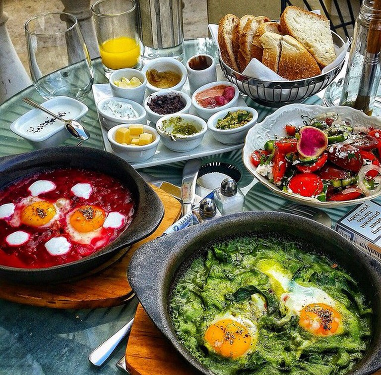 Full Shakshuka Breakfast Courtesy of The Rothschild Hotel