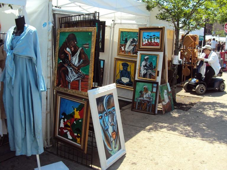 Vendor booth at the 57th Street Art Fair | © 393edge/Flickr