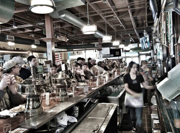 Beer hall | Courtesy of Marin Brewing Company
