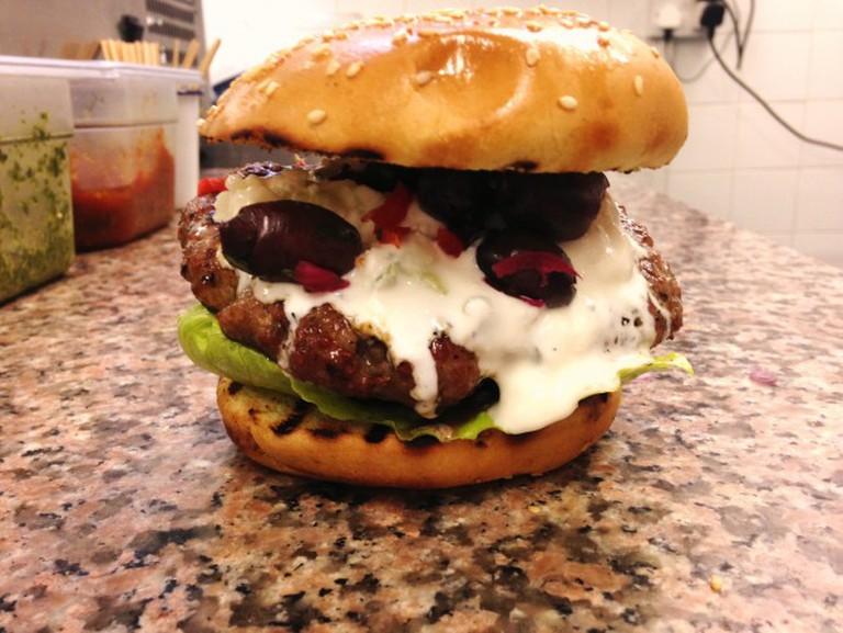 The Real Greek burger