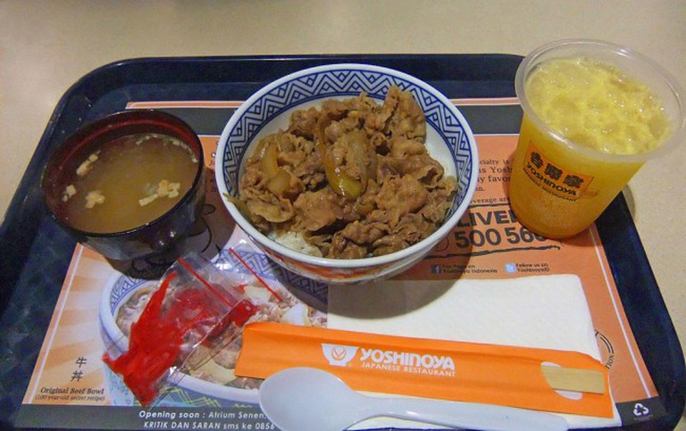 A quick meal at Yoshinoya
