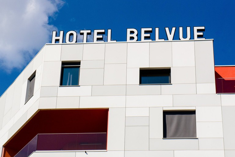 The facade of the BELVUE Hotel, looking out over the canal | Coutesy of BELVUE Hotel