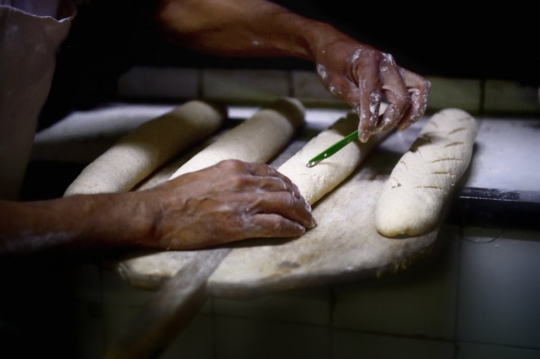 Preparing baguettes | Courtesy of La Fabrique