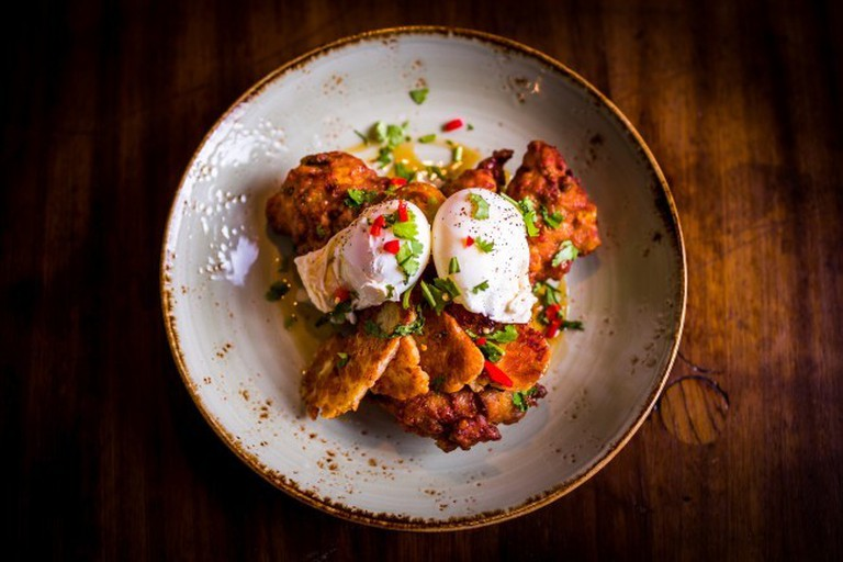 Sweetcorn hash, avocado and poached eggs - one of the Boston Tea Party's most popular dishes | Courtesy of Boston Tea Party