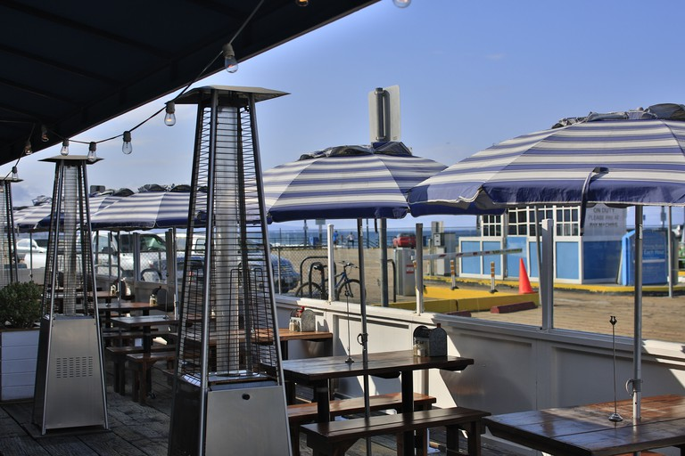 Patio on the pier and ocean view