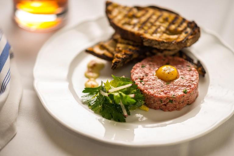 Steak tartare at Lafayette