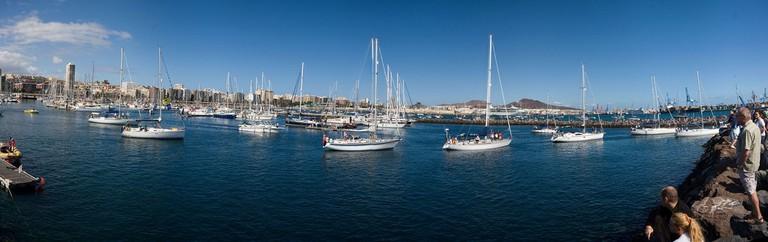 Fotos de salida de la XXVI edición de la Regata ARC 2011 Las Palmas G.C.