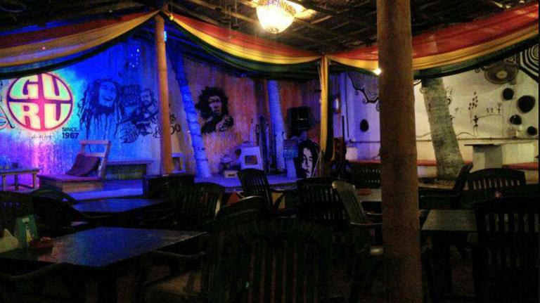 Stage at Guru Bar. Image