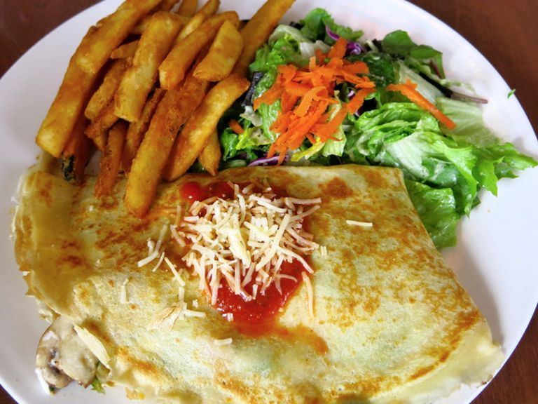 Classic Savory crepe at Crepevine