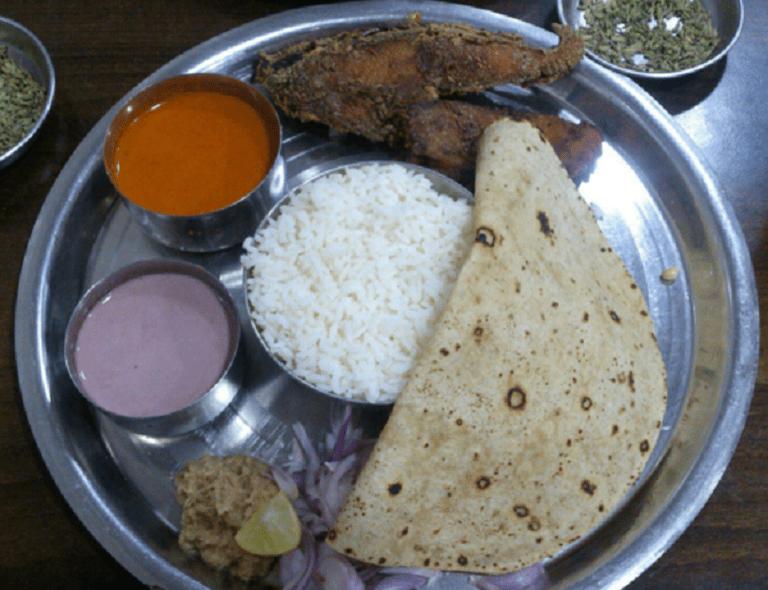 Fish thaali at Sandip, Fort. Image Courtesy : Zomato
