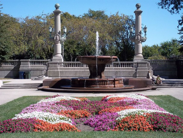 Fountain and Garden in Grant Park Chicago | © Alanscottwalker/WikiCommons