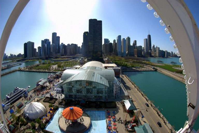 View from Navy Pier Ferris Wheel   © Michael/Flickr