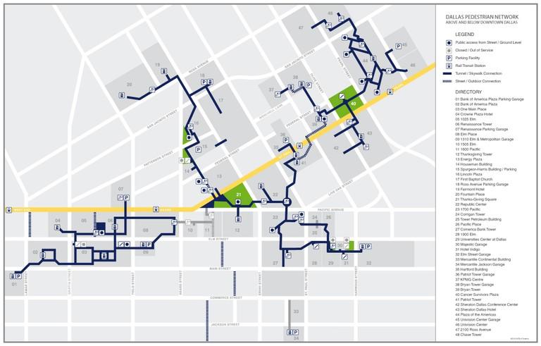 Dallas Pedestrian Network | © Dfwcre8tive/WikiCommons