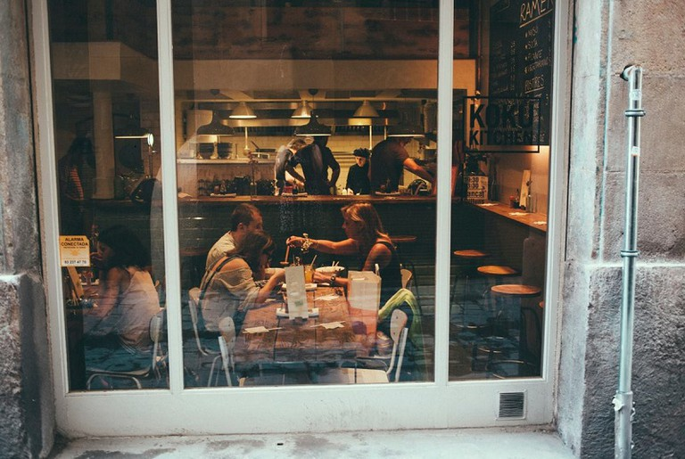 Looking in|Courtesy of Koku Kitchen